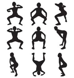 Twerking silhouettes vector
