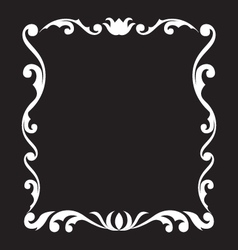 vintage frame design element vector image