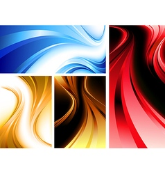 Wavy abstractions vector