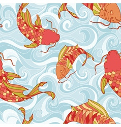 Fish seamless vector