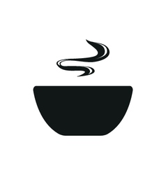 Soup simple black icon on white background vector