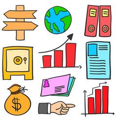 doodle of element business various design vector image
