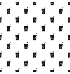 soft drink in paper cup pattern vector image