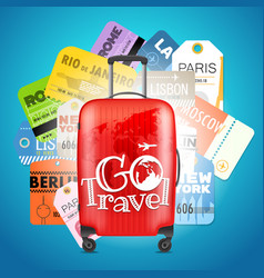go travel concept different boarding pass vector image