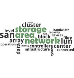 Word cloud - storage area network vector