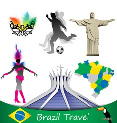 Brazil travel vector