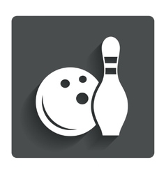 Bowling game sign icon ball with pin skittle vector