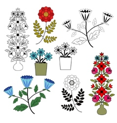 Flowers set vector