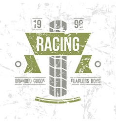 Emblem motorcycle racing club in retro style vector