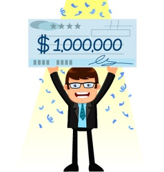 Man with a big check vector
