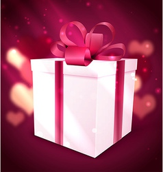 gift box Valentine background vector image