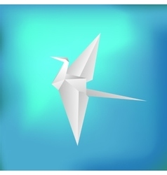 Flying paper bird vector