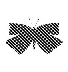 Butterfly sign on white vector