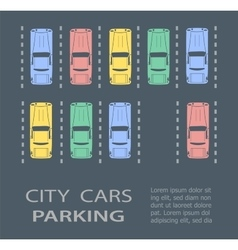 Top view city parking vector