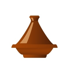 Moroccan tajine isolated vector