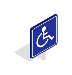 Disabled handicap icon isometric 3d style vector