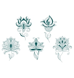 Abstract flower blossoms set vector image vector image