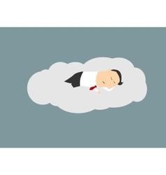 Businessman sleeping on a cloud vector image vector image