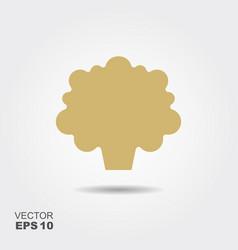 cauliflower flat icon colorful logo vector image vector image