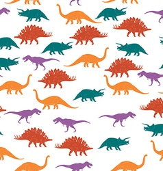 Colorful Dinosaurus Seamles Pattern Background vector image