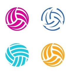Colorful volleyball balls vector