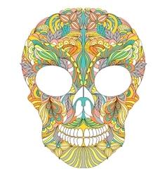 Floral skull on white background vector