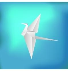 Flying paper bird vector
