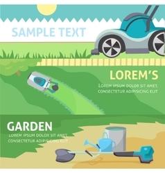 Gardening tools baner set eps 10 vector