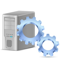 Gearwheel with computer vector image
