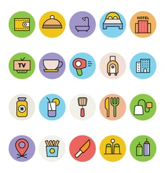Hotel and Restaurant Icons 4 vector image vector image