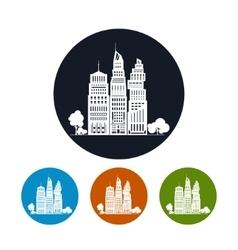Icon Modern Big City vector image vector image