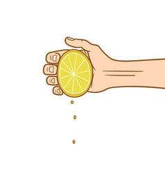 lemon squeeze vector image vector image
