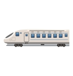 Modern high speed train icon cartoon style vector
