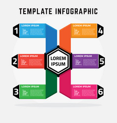 modern infographic template that can be used for d vector image vector image