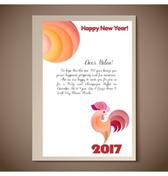 New year of the red rooster vector