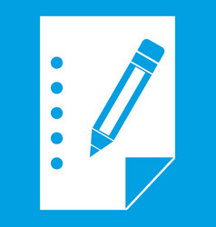 Notebook icon white vector