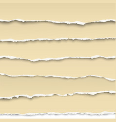 oblong layers of torn white papers isolated vector image