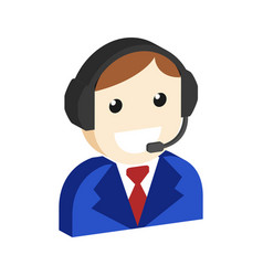 Operator avatar customer support symbol flat vector