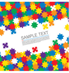 puzzle cover art vector image