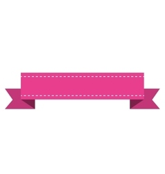 Ribbon frame isolated icon vector