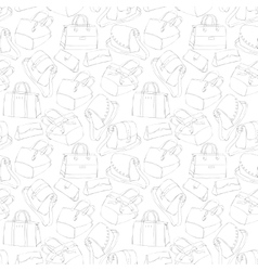 Seamless womans stylish bags sketch vector image