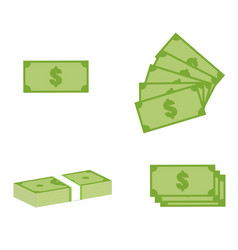 set money icon on white background money sign vector image vector image