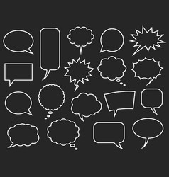 Speech bubbles set comics bubble vector