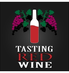 Tasting red wine poster vector