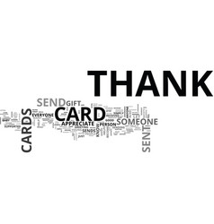 When to send thank you cards text word cloud vector
