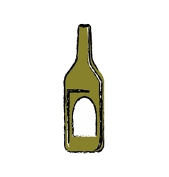 Winne bottle beverage vector image