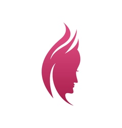 Beauty women icon logo template vector
