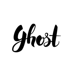 Ghost handwritten lettering vector