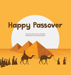 Happy passover in hebrew jewish holiday card vector