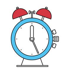 Color sectors silhouette of antique alarm clock vector